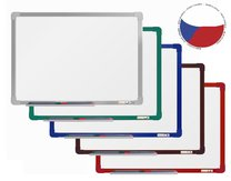 magnetická tabule 120x90 cm barevný hlinikový rám