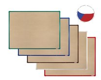 textilní tabule 90x60cm barevný hlinikový rám