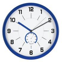 hodiny nástěnné Ø30cm s teploměrem, modré