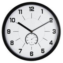 hodiny nástěnné Ø30cm s teploměrem, černé