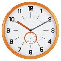 hodiny nástěnné Ø30cm s teploměrem, oranžové