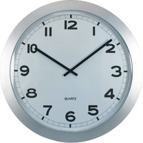 hodiny nástěnné XXL Ø60cm stříbrné
