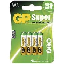 alkalická baterie GP Super LR03 (AAA), 4ks
