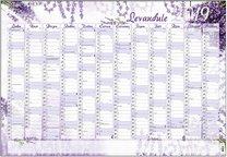 Nástěnný roční kalendář - B1 - Levandule