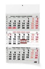 nástěnný kalendář TŘÍMĚSÍČNÍ ČERNÝ