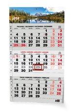 nástěnný kalendář TŘÍMĚSÍČNÍ ČERNÝ PŘÍRODA