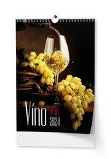 Nástěnný kalendář Víno