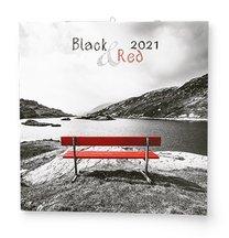nástěnný kalendář BLACK/RED