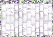 Nástěnný roční kalendář - levandule