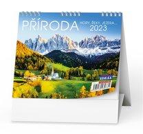 Stolní kalendář - Příroda, hory, řeky, jezera..