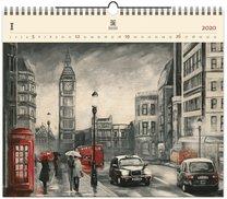 Nástěnný kalendář dřevěný - London