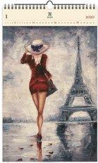 Nástěnný kalendář dřevěný - Paris