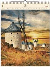 Nástěnný kalendář dřevěný - Mills