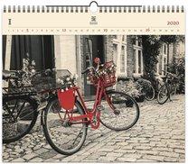 Nástěnný kalendář dřevěný - Bicycle