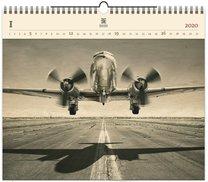Nástěnný kalendář dřevěný - Airplane