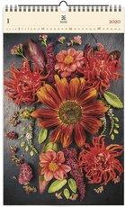 Nástěnný kalendář dřevěný - Flowers