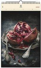 Nástěnný kalendář dřevěný - Food Art