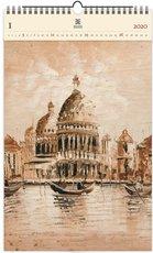 Nástěnný kalendář dřevěný - Venezia II.