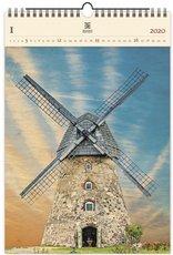 Nástěnný kalendář dřevěný - Windmill