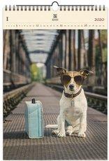 Nástěnný kalendář dřevěný - Dog