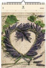 Nástěnný kalendář dřevěný - Heart