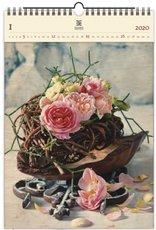 Nástěnný kalendář dřevěný - Roses