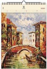 Nástěnný kalendář dřevěný - Venezia III
