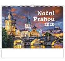 Nástěnný kalednář Noční Prahou