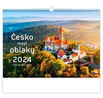 Nástěnný kalednář Česko mezi oblaky