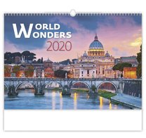 Nástěnný kalednář World Wonders
