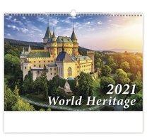 nástěnný kalednář WORLD HERITAGE