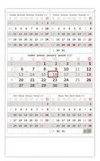 Nástěnný kalednář Pětiměsíční šedý