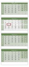 Nástěnný kalendář Čtyřměsíční skládaný GREEN