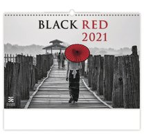 nástěnný kalendář BLACK RED