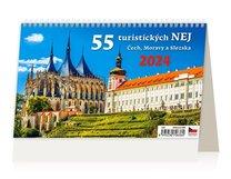 Stolní kalendář - 55 turistických NEJ Čech,Moravy a Slezka