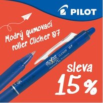 roller Pilot FriXion Cliker, hrot 0,7mm/3ks