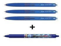 kuličkové pero Pilot Super Grip G stiskací modrý 3+1 ZDARMA